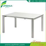 上の販売の長方形の薄い灰色の食堂テーブル