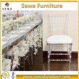 Cadeira plástica de cristal transparente da resina do casamento do policarbonato para o banquete