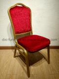 Neues Ereignis-Entwurfs-Hochzeits-Hotel-goldenes Metall, das Stuhl speist