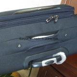 Bolso duro de la carretilla de la tela práctica de Oxford, maleta negra de encargo del equipaje del recorrido con las ruedas