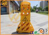 Draagbare Maximum 3.9 van de Uitzetbare Plastic Barricade Gele Meters Kleur