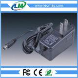 AC/DC5V/12V/24V de aan de muur bevestigde Adapter van de Macht 12W met Ce RoHS
