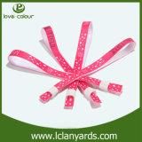 Logo fait sur commande pour des bracelets de tissu de mariage à vendre