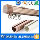 Premier profil en aluminium en aluminium personnalisé de vente de longeron de piste de cavité de rideau