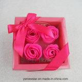Романтичная коробка подарка цветка мыла 4PCS Rose для любовника