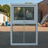 Het witte Dubbele Glas van het Venster van het Profiel van de Kleur UPVC Afbaardende met Net K02064