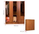 寝室の家具の木の衣服の収納キャビネット/Wardrobe (HX-DR023)