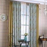 Tela impresa de la cortina del apagón de la cortina de ventana del estilo de país