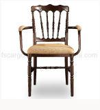 Цвет Brown закончил стул Наполеон подлокотника для используемого Bridegroom (CG 1631)