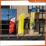 Drapeaux de plumes sur mesure de haute qualité, bannière télescopique de drapeau de plage