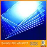 Hoja plástica del claro/del plexiglás de acrílico transparente para la visualización de acrílico