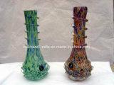 """11 """" tubos que fuman soplados del vidrio suave/artes hechos a mano con la base especial del loto"""