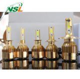 9004 9007 C6 LED Scheinwerfer-Installationssatz-Gold-PFEILER Chip-Doppelt-Träger
