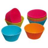 Copos coloridos do bolo do silicone da cozinha de Bakeware