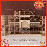 Soportes de madera del estante de cabina de visualización del escaparate del vidrio de vino de la alta calidad