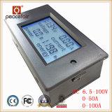 Contador de Digitaces de la energía de la potencia del amperímetro del voltaje de la C.C. 6.5-100V 50A/100A 4in1 LCD