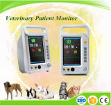 Monitor paciente del multiparámetro de 7 pulgadas del uso tamaño pequeño del veterinario para la clínica del animal doméstico