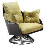 Cadeira européia do braço do rolo macio da cadeira do lazer da mobília (KR18)