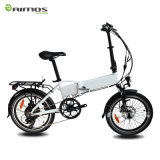 20 '' سبيكة [500ويث750و] يطوي درّاجة كهربائيّة مع شركة نقل جويّ خلفيّ