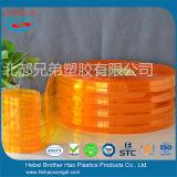 제조자 노란 주황색 유연한 공간 PVC 문 지구 커튼