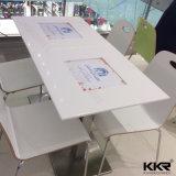 Tabella pranzante di marmo di pietra di superficie solida del quadrato della mobilia del ristorante (T1705220)