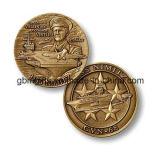 Monedas cobrables redondas de cobre amarillo con el borde especial