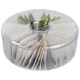 Rectángulo de almacenaje de acrílico redondo del té de 8 pulgadas