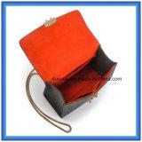Saco de ombro de compra com correia do metal (o índice de lãs é 70%), saco ocasional sentido lãs da mão das senhoras quentes da promoção único do mensageiro do OEM