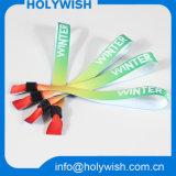 Wristband disponible de la buena del precio tela segura material del poliester alta