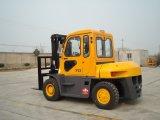 승인되는 Cabin/Ce를 가진 7 톤 유압 디젤 엔진 포크리프트