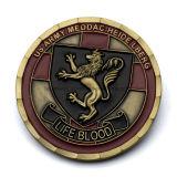 Coin Ejército esmalte 3D encargo de aleación de zinc