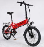 [متث] يطوي [ستل] درّاجة كهربائيّة مع بطارية في إطار