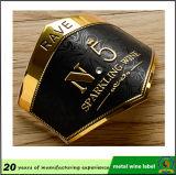 Etiqueta impressa do emblema do vinho 3D do metal da fábrica alumínio feito sob encomenda com boa etiqueta
