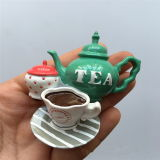 imán del refrigerador del regalo de la promoción del recuerdo de la taza del crisol del té 3D