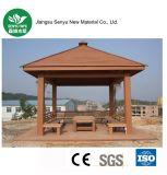Pavillon extérieur rouge en bois WPC