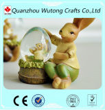 Figurines animais internos do coelho da resina Home da decoração com Snowball