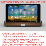 2016 New Car Center Console Quad-Core Android OS GPS Tablet PCS com câmera de vídeo digital de carro 2CH, transmissor de FM, Bluetooth, GPS Navigaton, Parth Rearview Camera