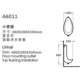 Erstklassiges Urinal-Flaschen-Feld: A6011