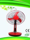 16 pouces d'AC110V de ventilateur rechargeable de ventilateur solaire de Tableau (FT-40DC-H3)