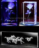 Het hete Verkopende Glas van het Kristal binnen 3D Machine van de Gravure van de Laser van het Kristal