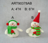"""9 """" Hx19 """" L decorazione Gift-2asst. di natale di Doorstopper del pupazzo di neve della Santa"""