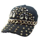 黒6のパネルの綿のあや織りの方法野球帽