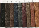 Couro sintético da grão elegante do crocodilo do projeto para sacos, sapatas, vestuário. (HS-Y33)