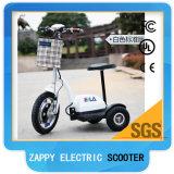 Scooter Zappy d'entraînement à roues avant motrices de moteur de pivot de tricycle de 3 roues pour la course
