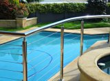 Pasamano de la barandilla de la barandilla del acero inoxidable para el cercado al aire libre del balcón/del alambre