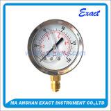 저음 금관악기 압력 측정하 실리콘에 의하여 채워지는 압력 측정하 부르동 관 압력 계기