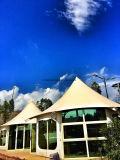 ホテルの屋外のイベントのテントは玄関ひさしのおおいのテント4を使用した