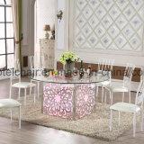 Роскошная таблица банкета таблицы венчания цвета СИД светлая с свадебным банкетом