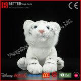 En71 현실적 연약한 장난감 박제 동물 백색 호랑이 견면 벨벳 호랑이 장난감