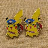 승진 주문 단단한 사기질 금속 Pikachu Pin 기장